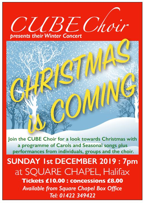 CUBE Choir Christmas Concert 2019 Poster